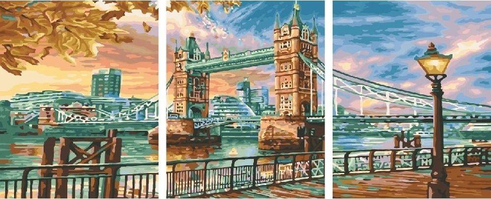 Купить Картина по номерам «Мост и набережная», Paintboy (Premium), 3 шт. 40x50 см, KX-0107