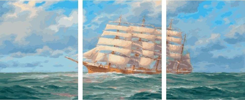 Купить Картина по номерам «Корабль», Paintboy (Premium), 3 шт. 40x50 см, KX-0108