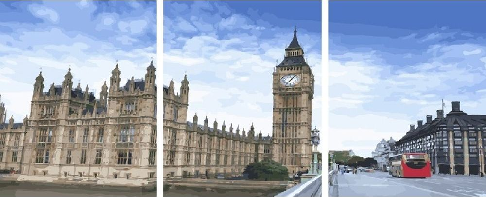 Купить Картина по номерам «Биг-Бен в Лондоне», Paintboy (Premium), 3 шт. 40x50 см, KX-0110
