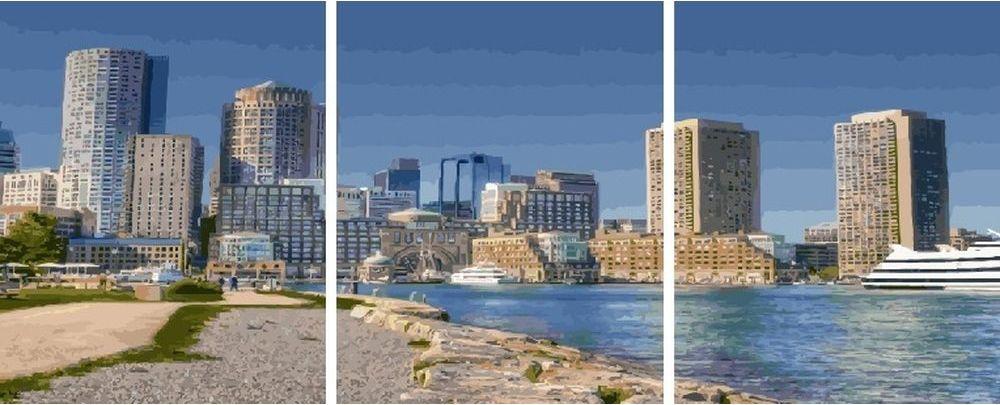 Купить Картина по номерам «Город», Paintboy (Premium), 3 шт. 40x50 см, KX-0111