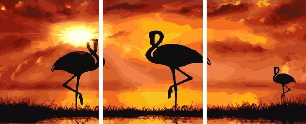 Купить Картина по номерам «Закат», Paintboy (Premium), 3 шт. 40x50 см, KX-0114