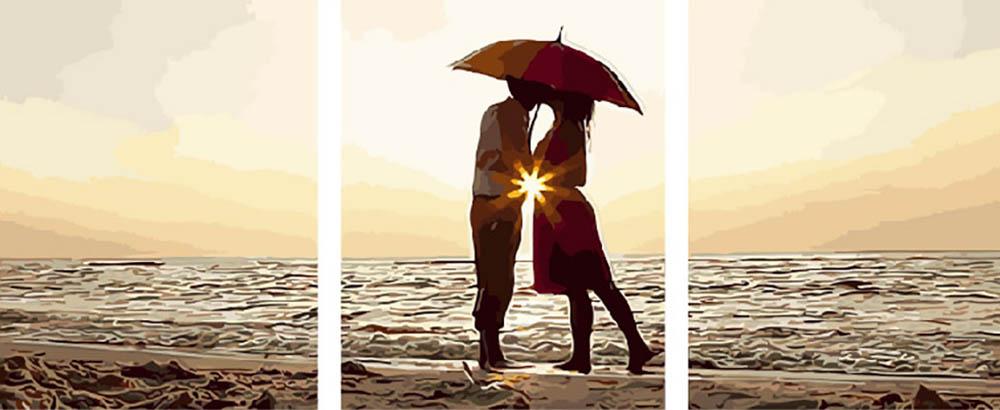 Купить Картина по номерам «Романтика у моря», Paintboy (Premium), Китай, 3 шт. 40x50 см, PX5110