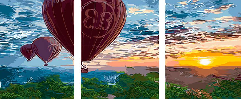 Купить Картина по номерам «Полет на закате», Paintboy (Premium), Китай, 3 шт. 40x50 см, PX5115