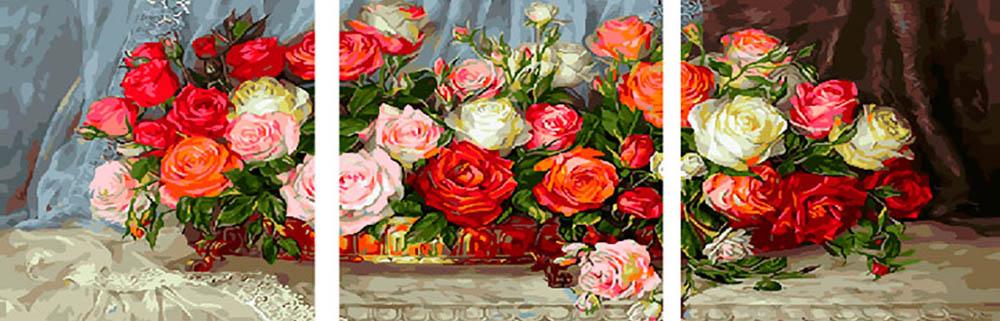 Купить Картина по номерам «Идеальный букет», Paintboy (Premium), Китай, 3 шт. 50x50 см, PX5275