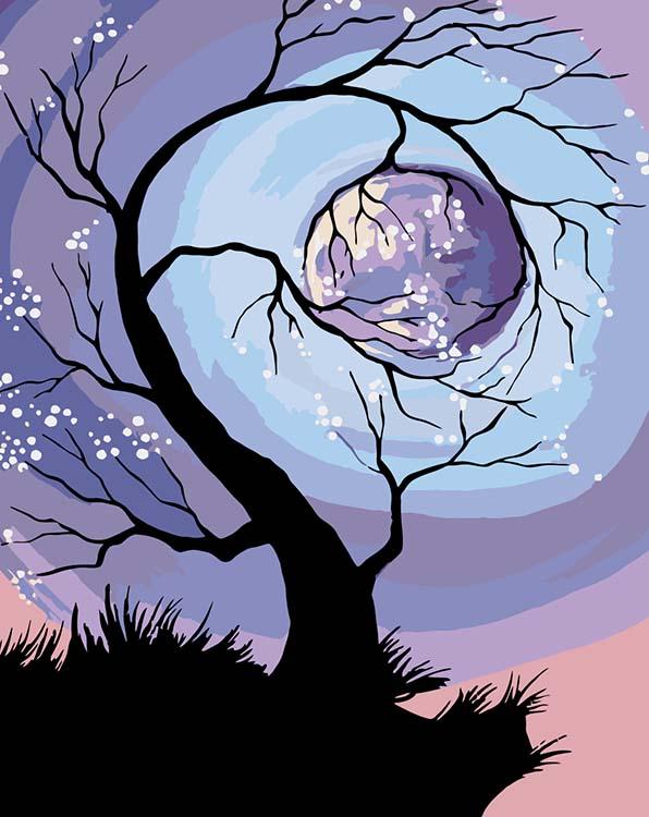 Купить Картина по номерам «Обнимая Луну», Живопись по Номерам, Китай, RA181