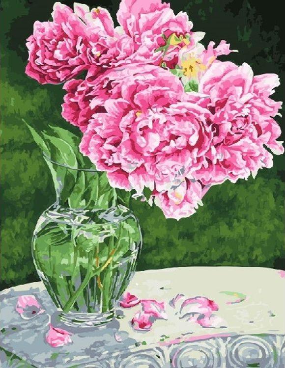 Купить Картина по номерам «Пионы», Paintboy (Premium), RDG-1848