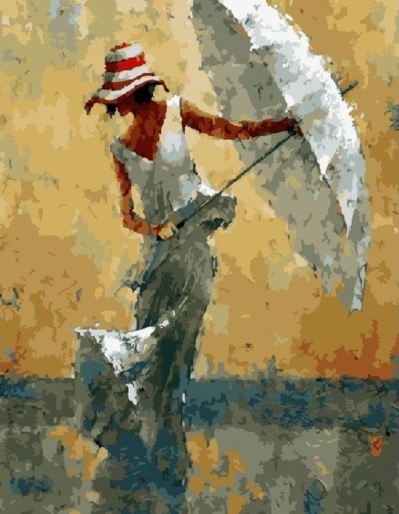 Купить Картина по номерам «Девушка с зонтом», Paintboy (Premium), RDG-2048