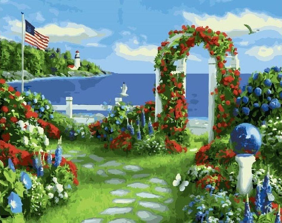 Купить Картина по номерам «Цветочная арка», Paintboy (Premium), RDG-2838