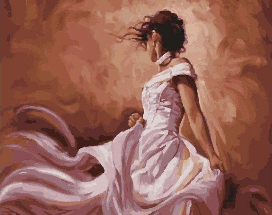 Купить Картина по номерам «Девушка в белом», Paintboy (Premium), RDG-2923