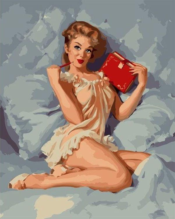 Купить Картина по номерам «Винтажная девушка», Paintboy (Premium), VA-0259