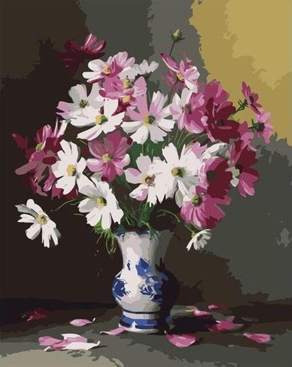 Купить Картина по номерам «Цветы в вазе», Paintboy (Premium), VA-0704
