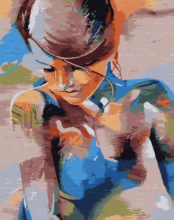 Купить Картина по номерам «Девушка», Paintboy (Premium), VA-0709