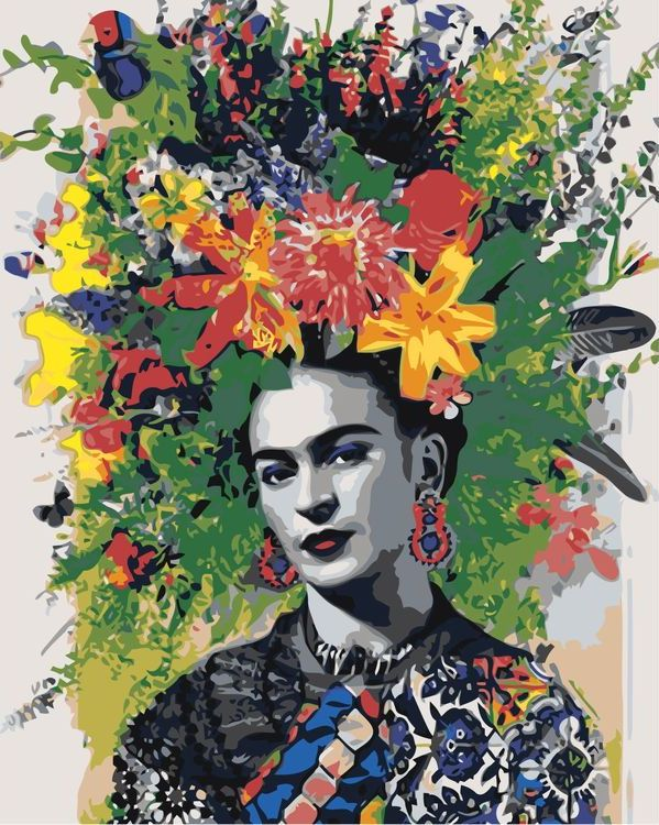 Купить Картина по номерам «Цветочная шляпка», Живопись по Номерам, Z-AB185
