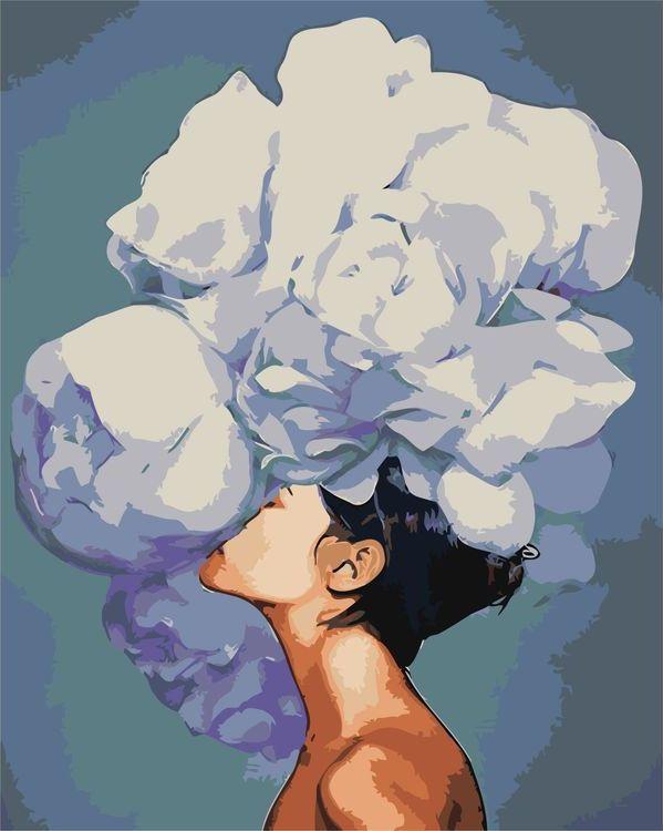 Купить Картина по номерам «Цветочная голова», Живопись по Номерам, Z-AB223