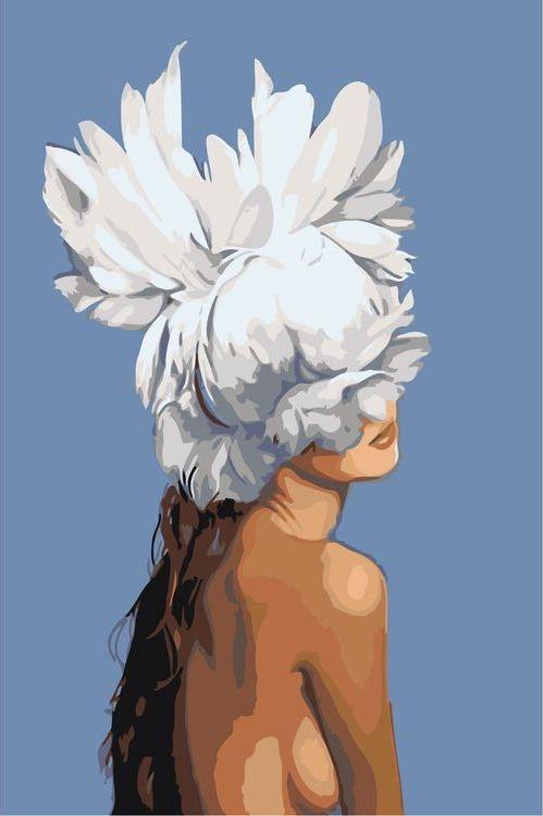 Купить Картина по номерам «Цветочная голова 2», Живопись по Номерам, Z-AB224