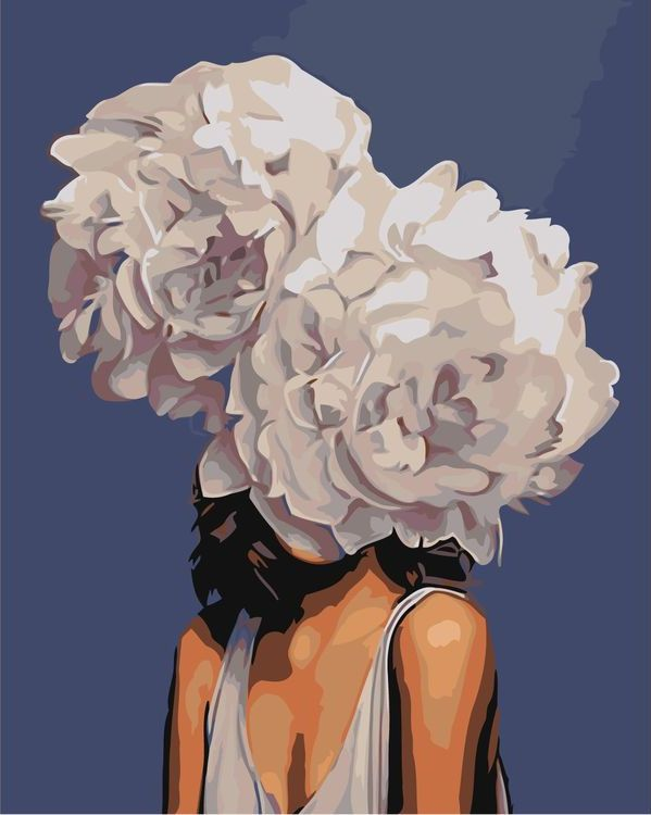 Купить Картина по номерам «Цветочная голова 3», Живопись по Номерам, Z-AB225