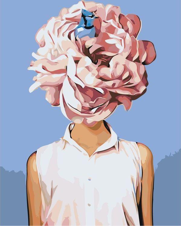 Купить Картина по номерам «Цветочная голова 6», Живопись по Номерам, Z-AB247