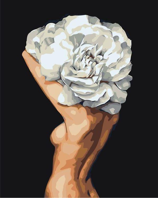 Купить Картина по номерам «Цветочная голова 7», Живопись по Номерам, Z-AB248
