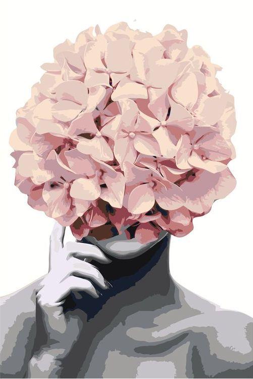 Купить Картина по номерам «Цветочная голова 9», Живопись по Номерам, Z-AB250
