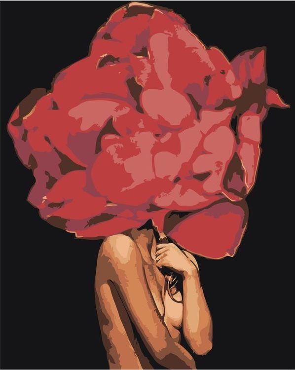 Купить Картина по номерам «Цветочная голова 10», Живопись по Номерам, Z-AB251