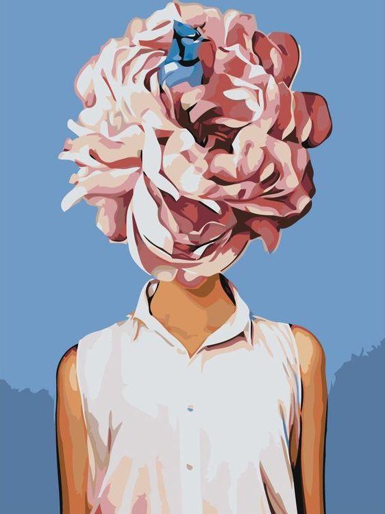 Купить Картина по номерам «Цветочная голова 11», Живопись по Номерам, Z-AB253