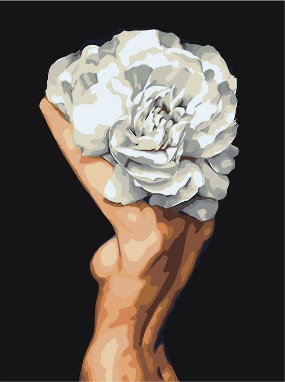 Купить Картина по номерам «Цветочная голова 12», Живопись по Номерам, Z-AB254