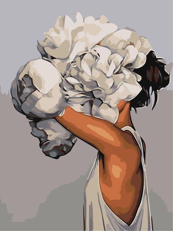 Купить Картина по номерам «Цветочная голова 13», Живопись по Номерам, Z-AB255