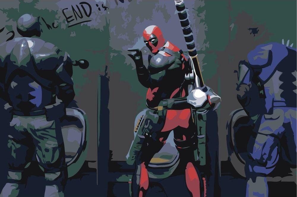 Купить Картина по номерам «Deadpool», Живопись по Номерам, Z-AB352