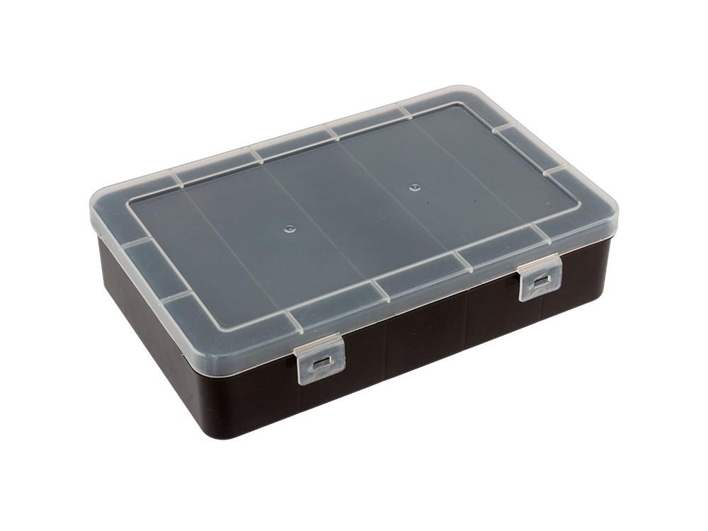 Купить Коробка для швейных принадлежностей Gamma, цвет: черный, 4, 7x19x12, 5 см, пластик, OM-012