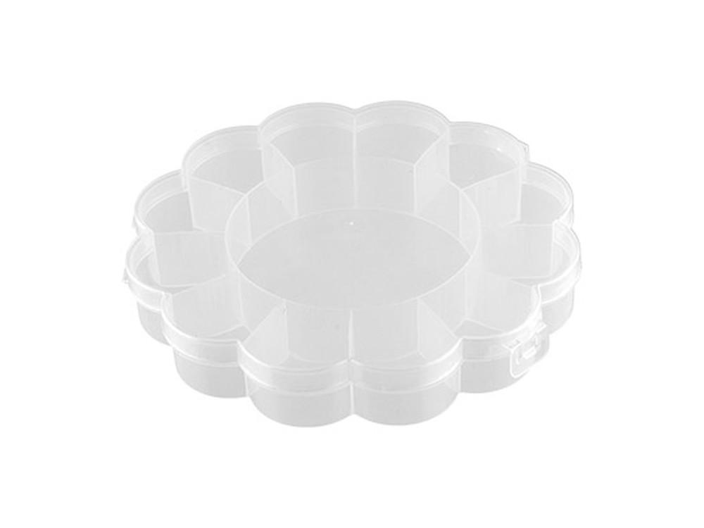 Купить Коробка для швейных принадлежностей Gamma, цвет: прозрачный, 2, 7x16x16 см, пластик, OM-013