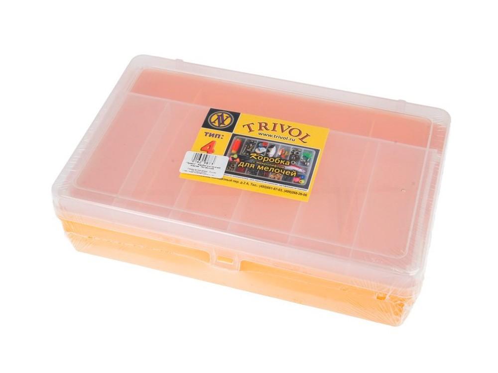 Купить Коробка для мелочей №4 двухъярусная, с микролифтом Trivol, цвет: желтый, 6, 5x23, 5x15 см, пластик, trivol4-j