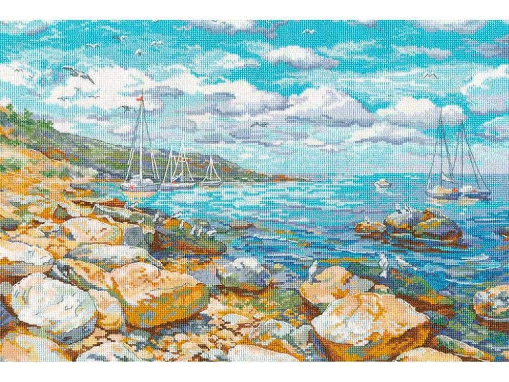 Купить Вышивка крестом, Набор для вышивания «Крымский берег», Овен, 26x38 см, 1177
