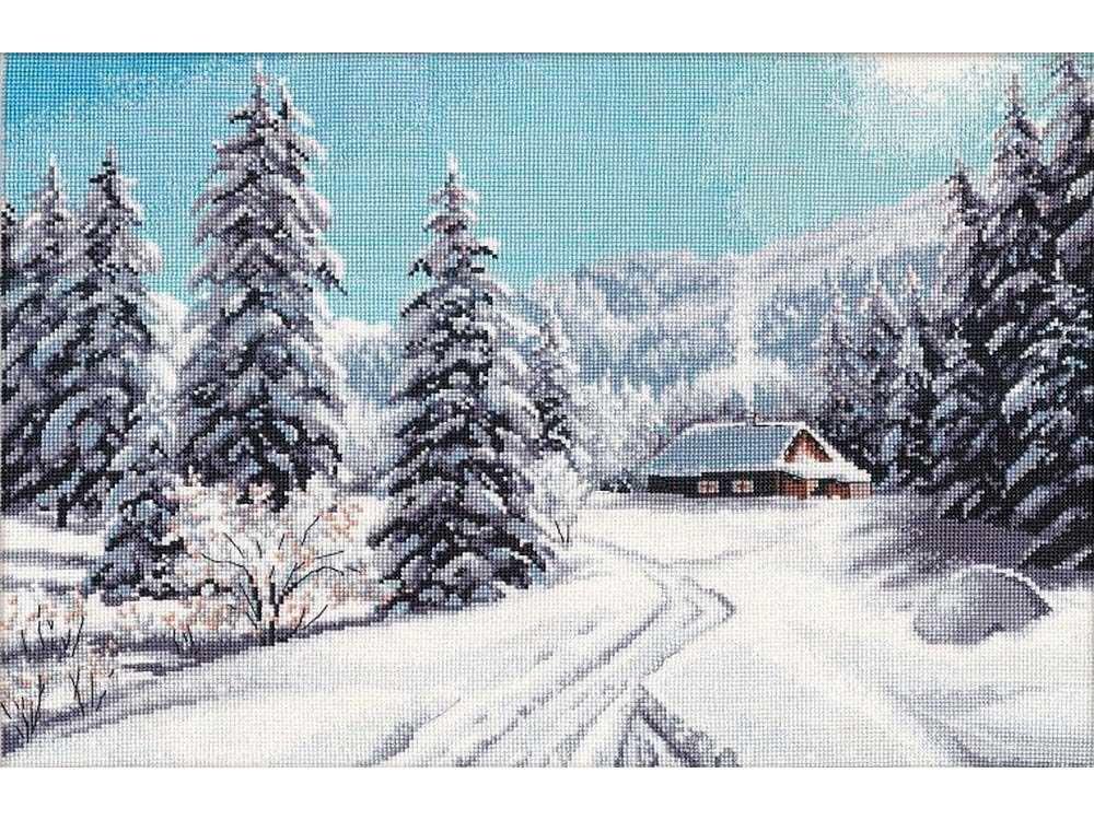 Купить Вышивка крестом, Набор для вышивания «Зимний день», Овен, 40x27 см, 1205