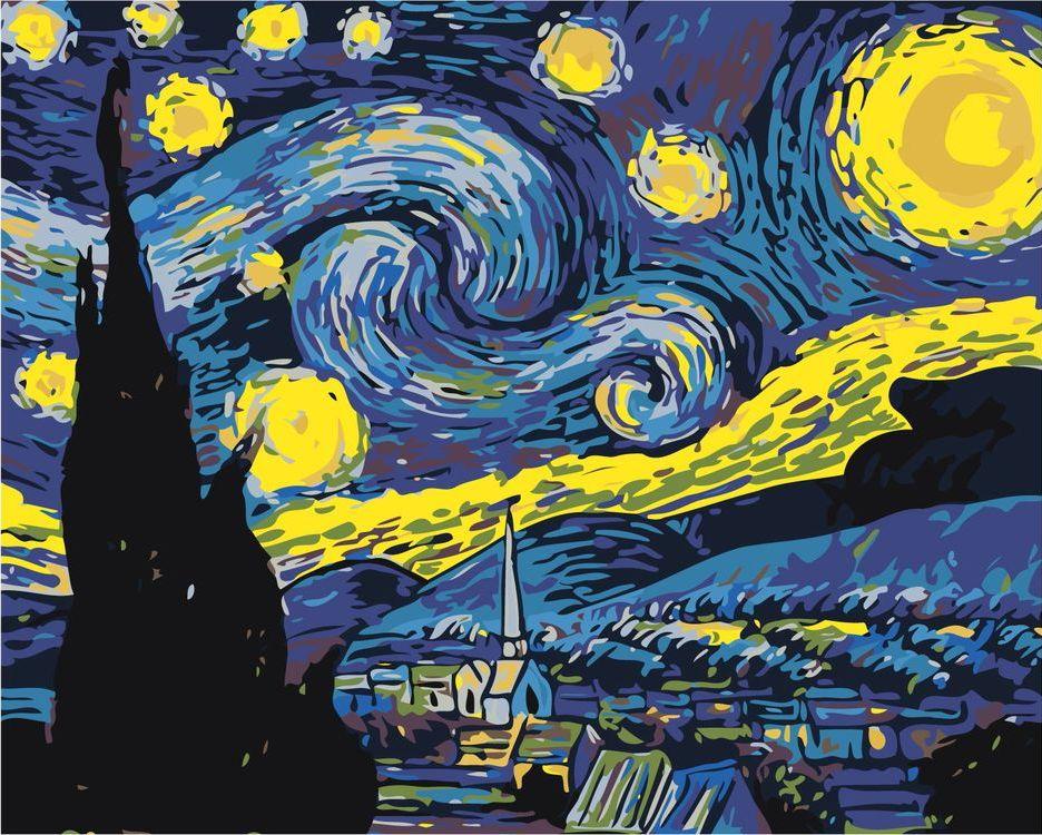Купить Картина по номерам «Звёздная ночь», Живопись по Номерам, ARTH-43