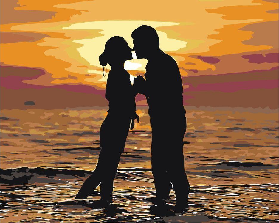 Купить Картина по номерам «Поцелуй на закате», Живопись по Номерам, ARTH-AH136