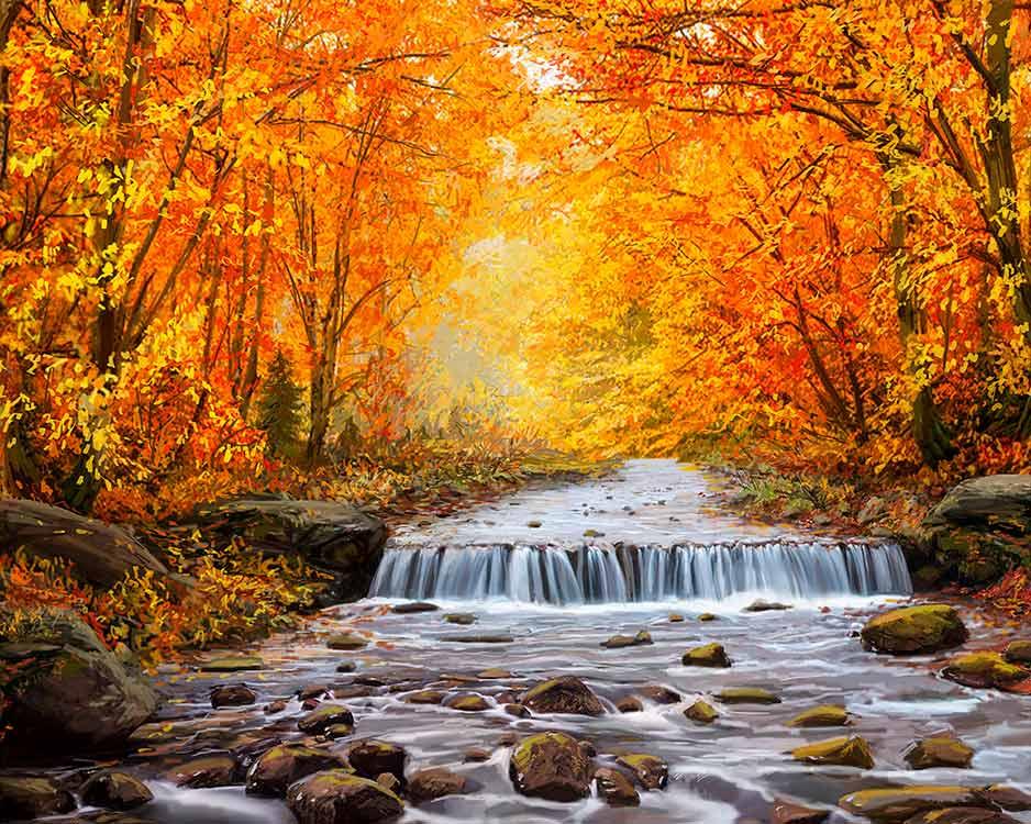 Купить Алмазная вышивка «Осень», Алмазное Хобби, Россия, 40x50 см, Ah5348