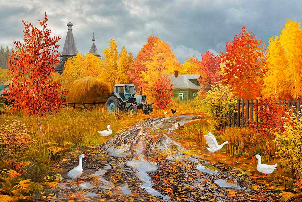 Купить Алмазная вышивка «Распутье», Алмазное Хобби, Россия, 40x60 см, Ah5349