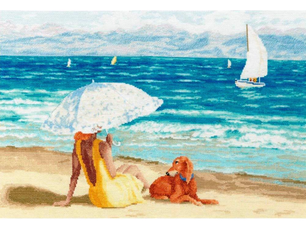 Купить Вышивка крестом, Набор для вышивания «Лазурный берег», Золотое Руно, 29, 4x45 см, ЧМ-070