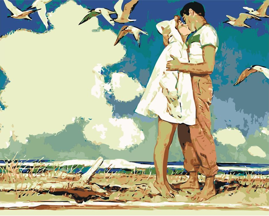 Открытки поцелуи на море