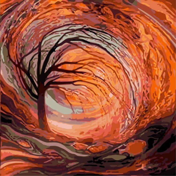 Купить Картина по номерам «Дерево», Живопись по Номерам, KTMK-54156