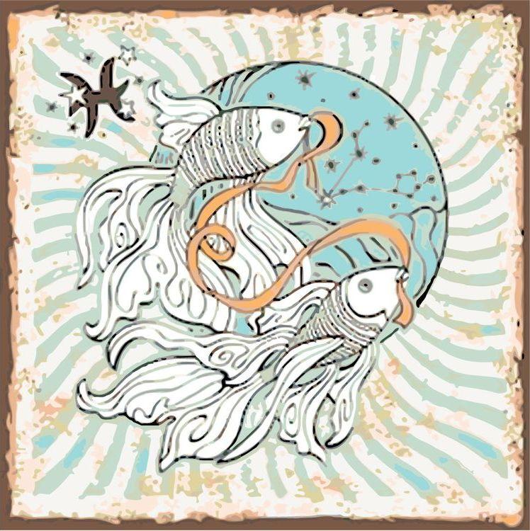 Купить Картина по номерам «Знак зодиака. Рыбы», Живопись по Номерам, KTMK-57895