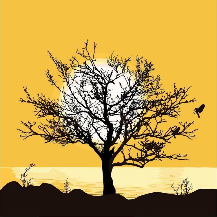 Купить Картина по номерам «Дерево на закате», Живопись по Номерам, KTMK-589583
