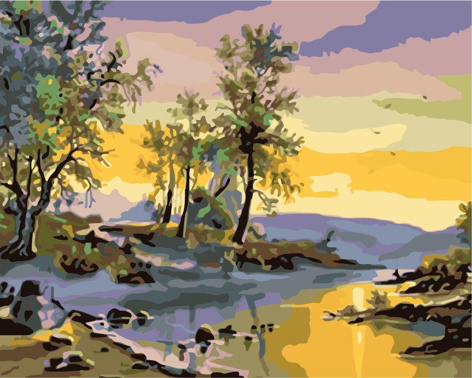 Купить Картина по номерам «Природа на закате», Живопись по Номерам, KTMK-901604