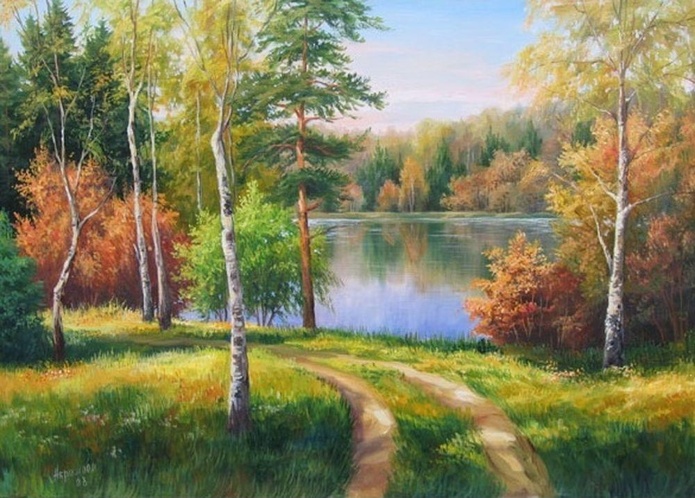 пейзажи средней полосы россии рисунки всего несколько