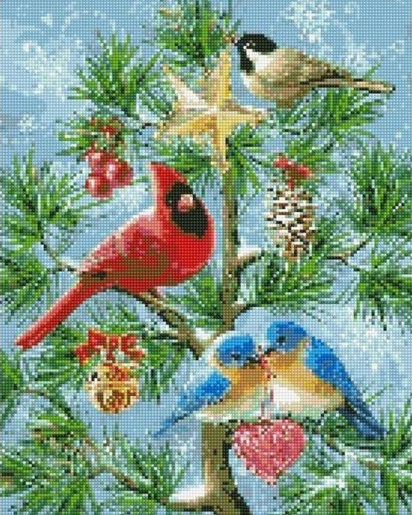 Купить Алмазная вышивка «Рождественское дерево», Китай, MZ2785