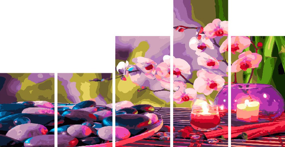 Купить Картина по номерам «Нежные ароматы», Paintboy (Premium), Китай, по 2 шт. 30x40 и 30x60 см; 1 шт. 30x80 см, WX1111