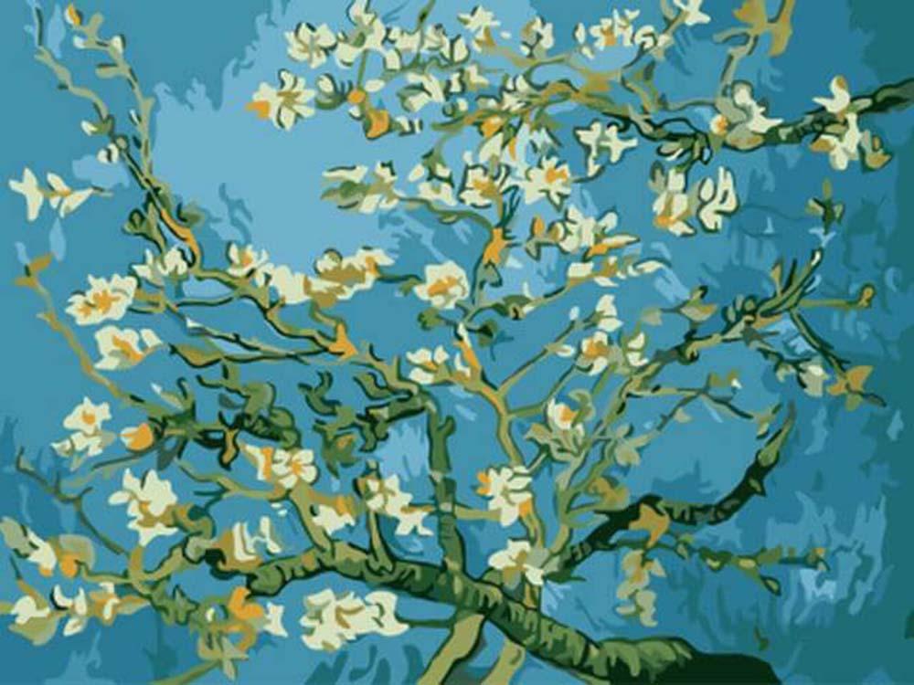 Купить Картина по номерам «Цветы миндаля» Ван Гога, Цветной (Standart), Россия, EX5216_Z