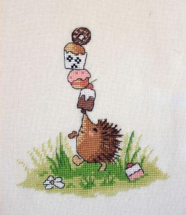 Купить Вышивка крестом, Набор для вышивания «Ёжик-сластена», Neocraft, 13x15 см, РЗ-05