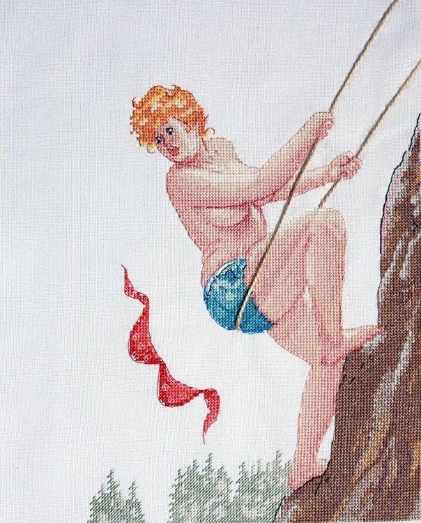 Купить Вышивка крестом, Набор для вышивания «Альпинистка», Neocraft, 25x30 см, ХД-11