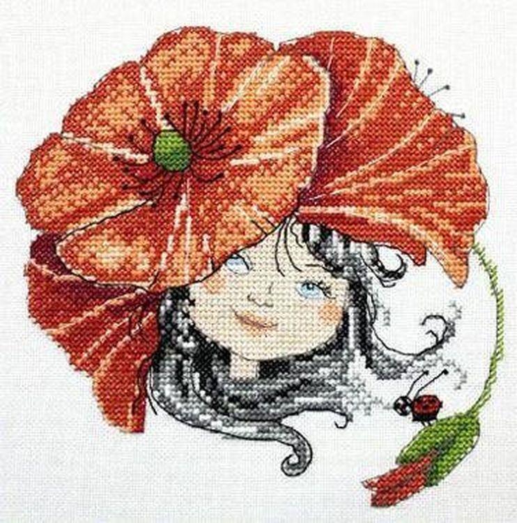 Купить Вышивка крестом, Набор для вышивания «Маковый цвет», Neocraft, 15x15 см, ЧЛ-03